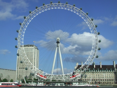 Attraits touristiques en Europe : The London Eye, London, UK